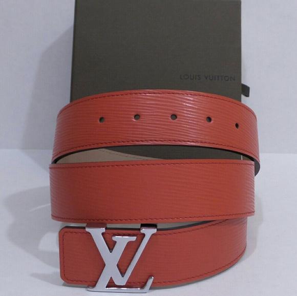 c7ecafb8765f Louis Vuitton Other - Louis Vuitton LV 32 - 34 Waist Mens Red Belt Sz 95